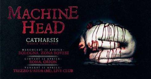 live show per machine head ad orion ciampino