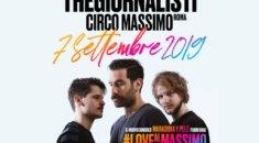 TheGiornalisti, Circo Massimo. L'ultimo atto del Rock in Roma con la produzione Kick Agency nella location più esclusiva e suggestiva della Capitale
